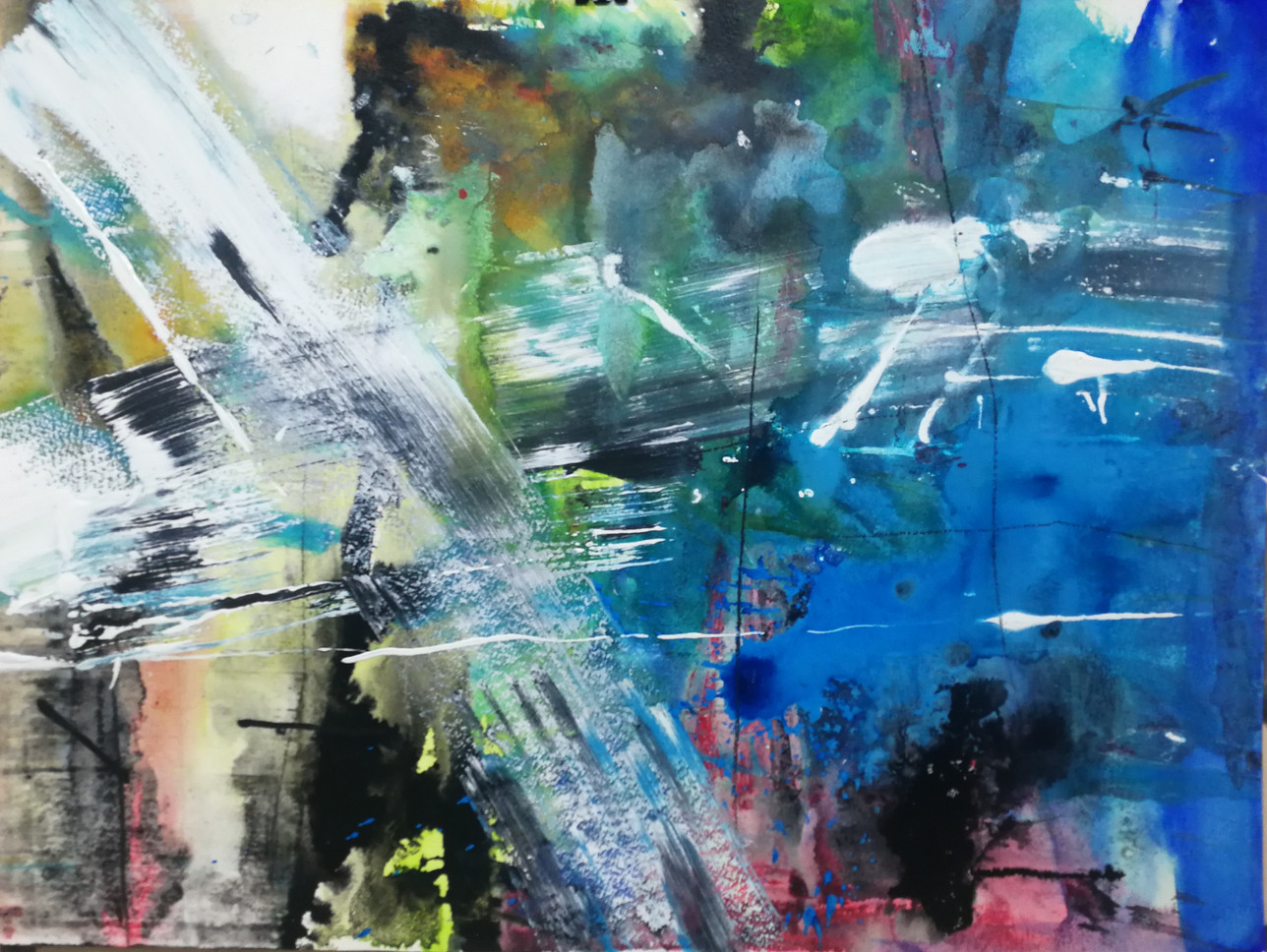series #11 35cm x 80cm watercolor and acrylic