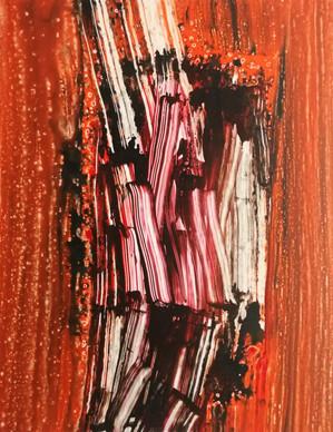 Series #1 90cm x 70cm oil and acrylic