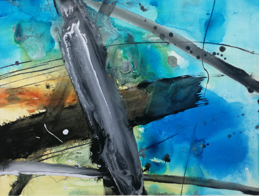 series #12 56cm x 70cm watercolor and acrylic