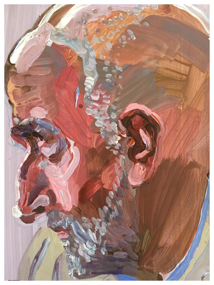 Uncle William 28cm x 22cm acrylic
