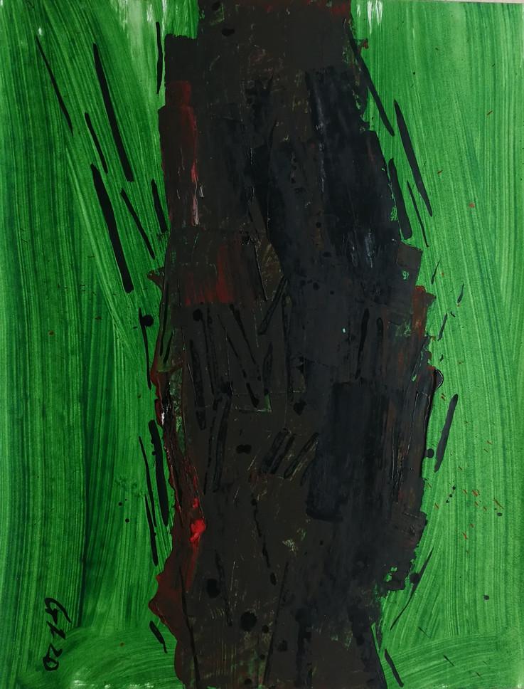 Series #4 90cm x 70cm oil and acrylic