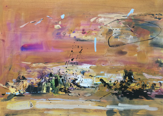 The other side 72cm x 100cm watercolor and acrylic