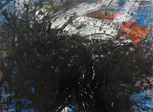 Pacific Storm 72cm x 100cm watercolor and acrylic