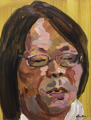 Sister 28cm x 22cm acrylic