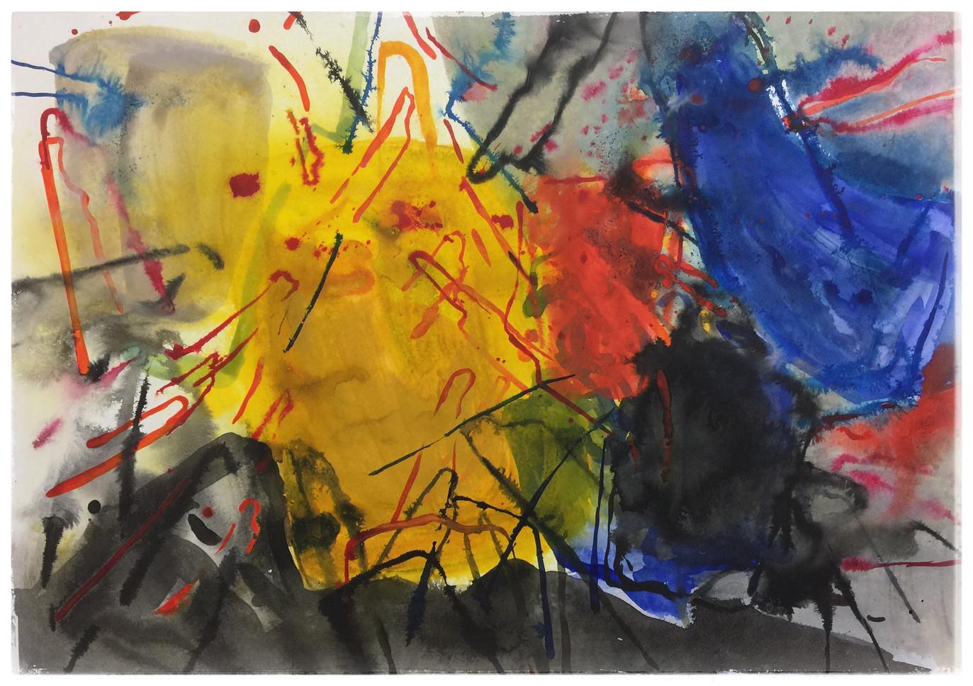 Series#1 72cm x 100cm watercolor