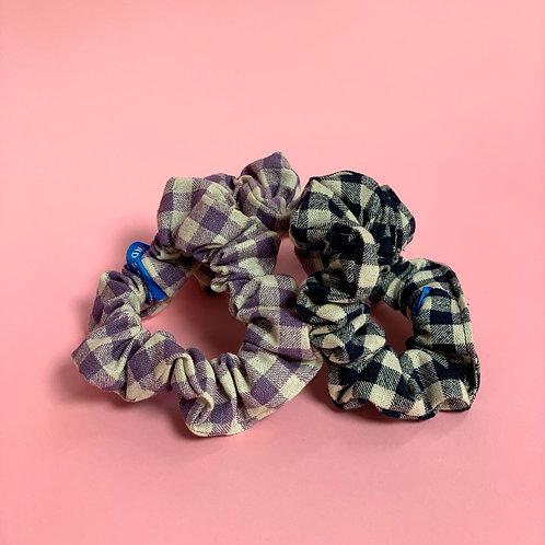 Gingham Mini Scrunchie 3pk
