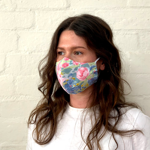 2 Layer Reusable Face Mask - Floral