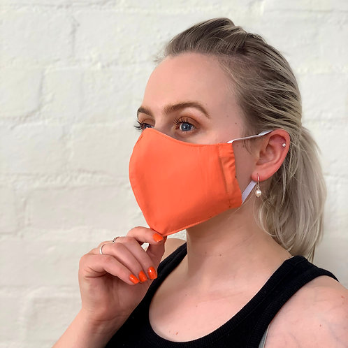 2 Layer Reusable Face Mask - Coral
