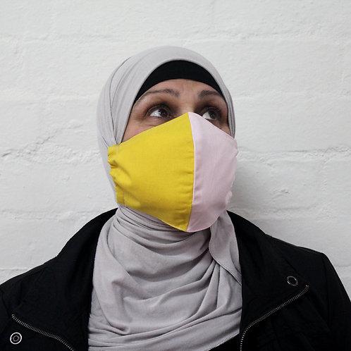 2 Layer Reusable Face Mask - Pink/Citrus