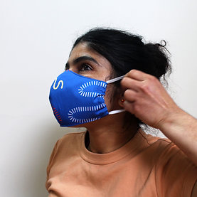 2 Layer Reusable Face Mask - Second Stitch Print