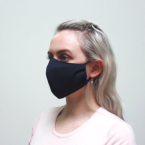 3 Layer Reusable Face Mask - Navy