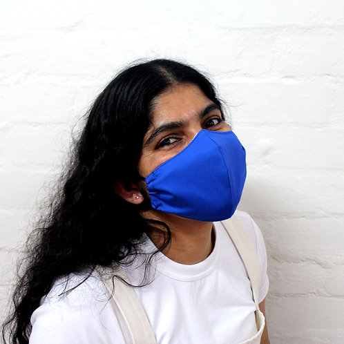 2 Layer Reusable Face Mask - Bright Blue