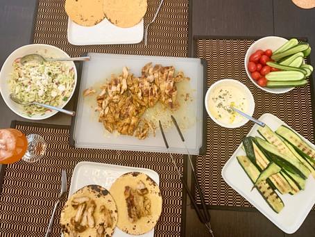 Easy Chicken Shawarma Dinner