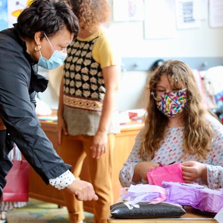 Mayor Cantrell Visits Waldorf School of New Orleans