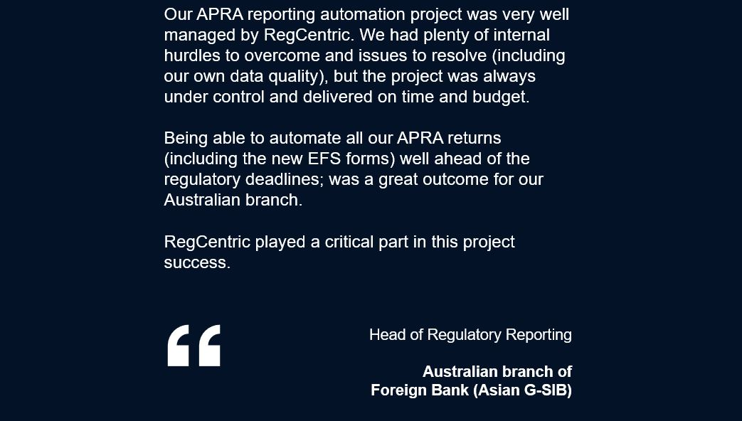 RegConnect APRA Reporting