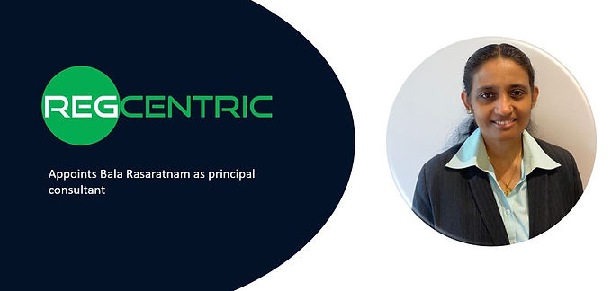 Press Release: RegCentric appoints Bala Rasaratnam as principal consultant