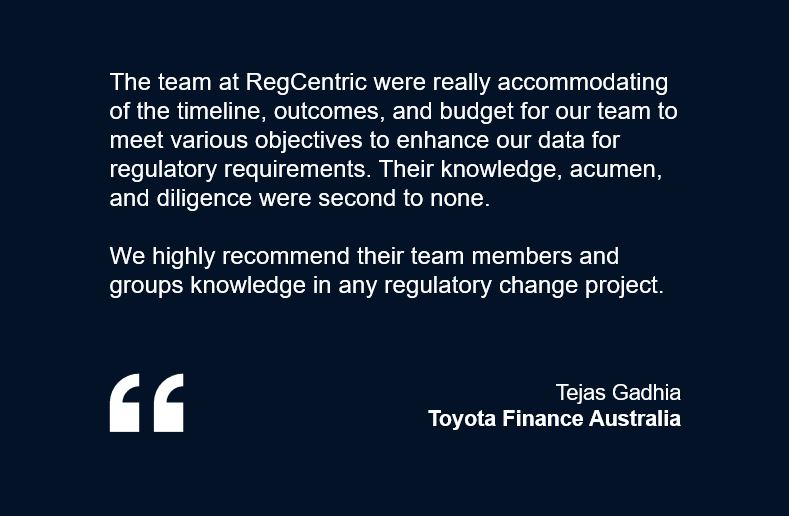 Toyota Finance RegCentric