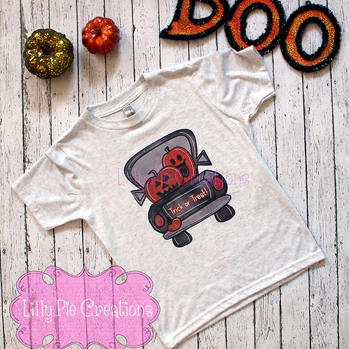 Youth Trick or Treat Truck Tee