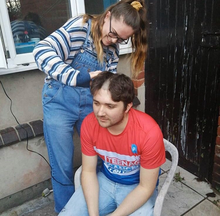 Men's CC getting his head shaved