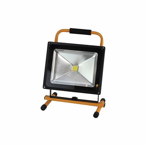 Refletor de LED 50W Recarregável Bivolt Luz Branca