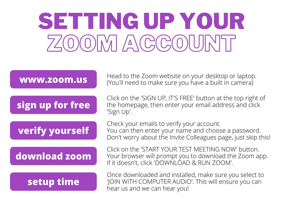 SETTING UP ZOOM