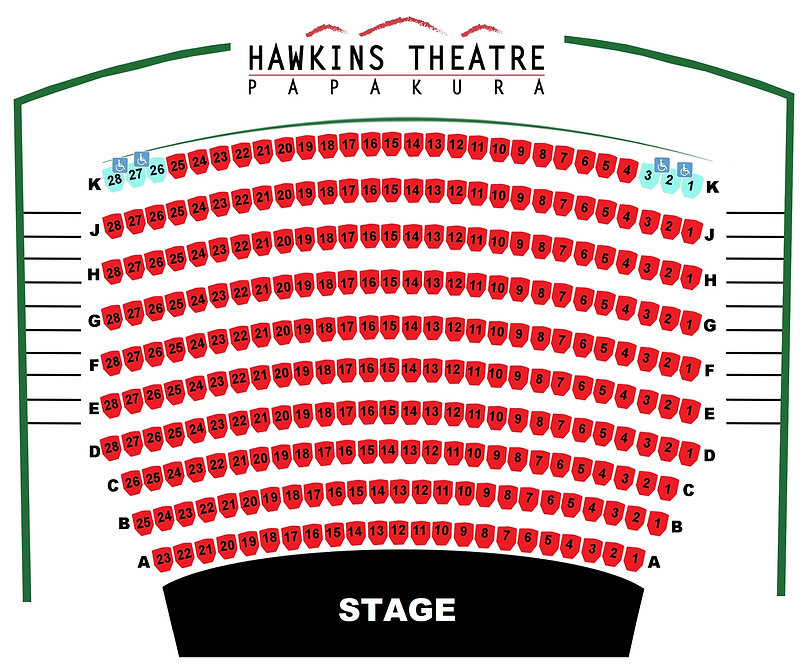 Hawkins Theatre Seat Map