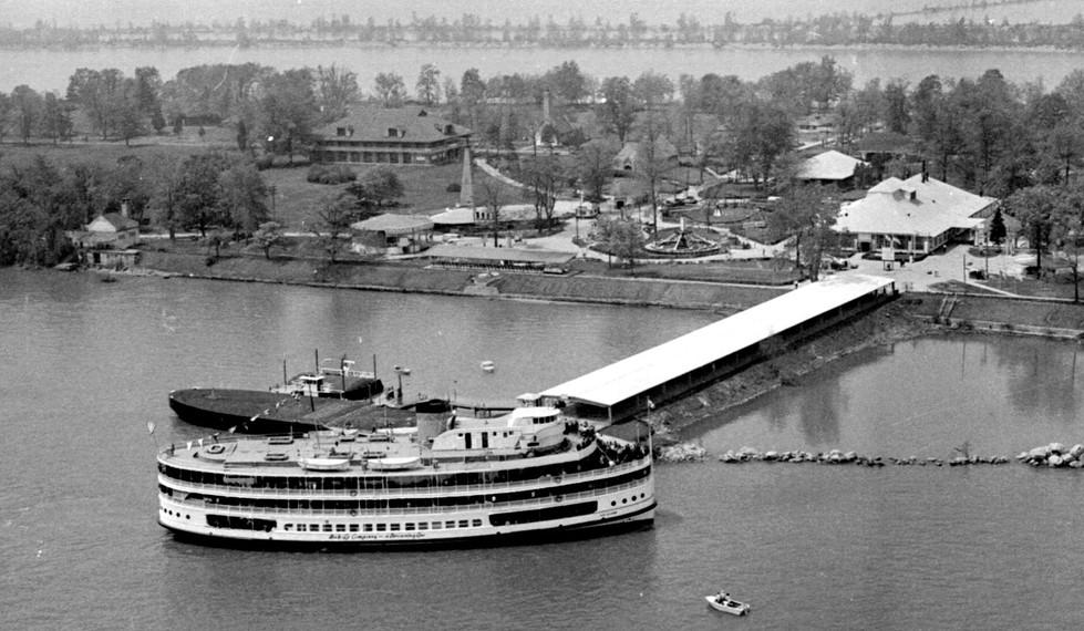 View of Boblo, 1950s
