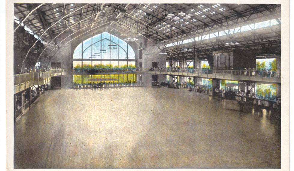 Hand Tinted Postcard, Dance Hall