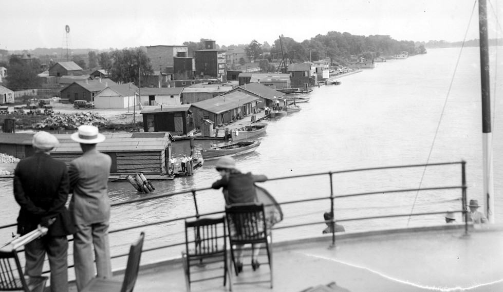 Crusing Along the Detroit River, 1920s
