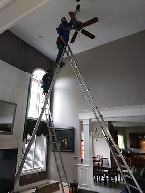 Chandelier and Fan cleaning