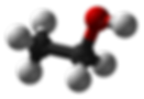 ethanol molecule from the REVA Educational Raman alcohol mixtures lab