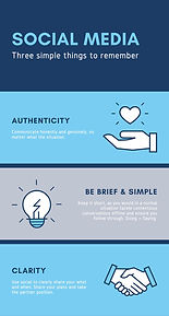 Social Media: Be authentic, simple and clear