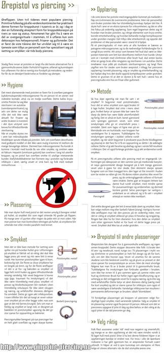 Om forskjellen på ørepistol og piercing