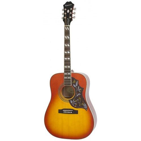Epiphone Hummingbird Pro Semi-Acoustic Guitar - Faded Cherry EEHBFCNH1