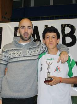 ANDONI, jugador destacado del equipo Cadete Masculino