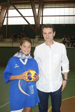 Natalia del Olmo, como jugadora destacada del campeonato