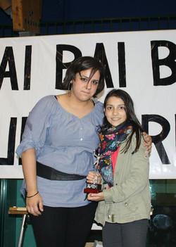 "NEREA, jugadora destacada del equipo Infantil Femenino Urdaibai ""B"""