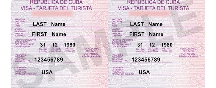 Tourist / Visa Card