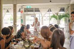 Discussing mental health and confidence building at Bubbles, Brunch and Branding networking event.