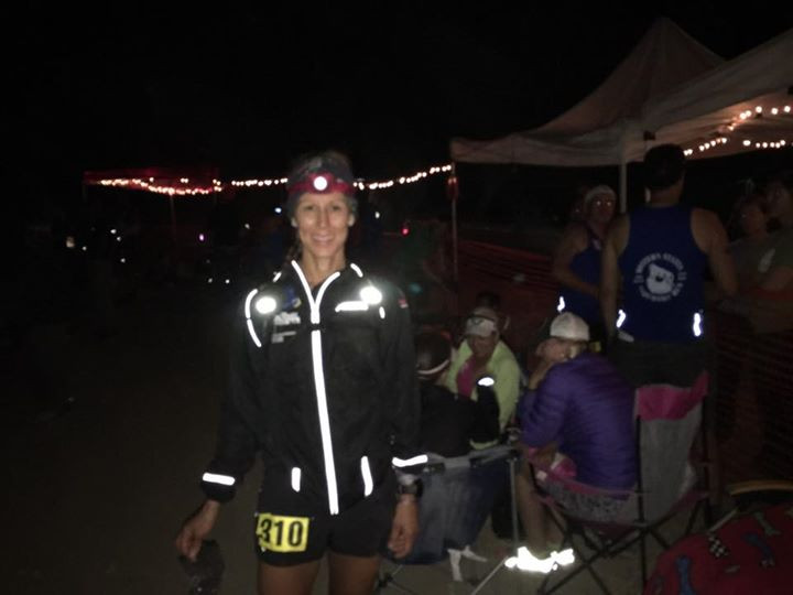 Waiting to start my pacing at Western States at about 1:30 in the morning.