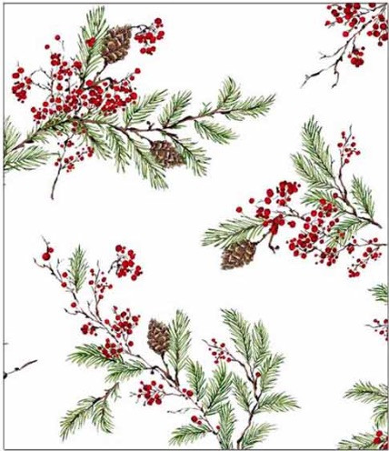 Holiday Ribbons Shower Curtain