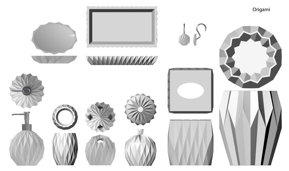 Origami_White Set_(Rendering)