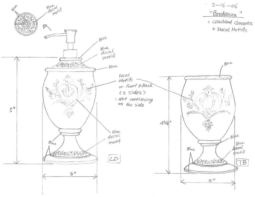 Bordeaux initial sketch