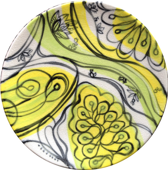 Chartreuse Yellow Waves, no.3