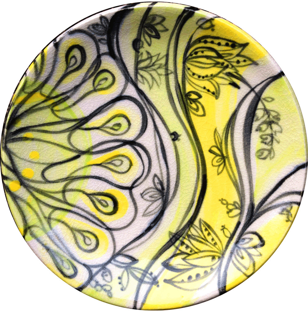Chartreuse Yellow Waves, no.1