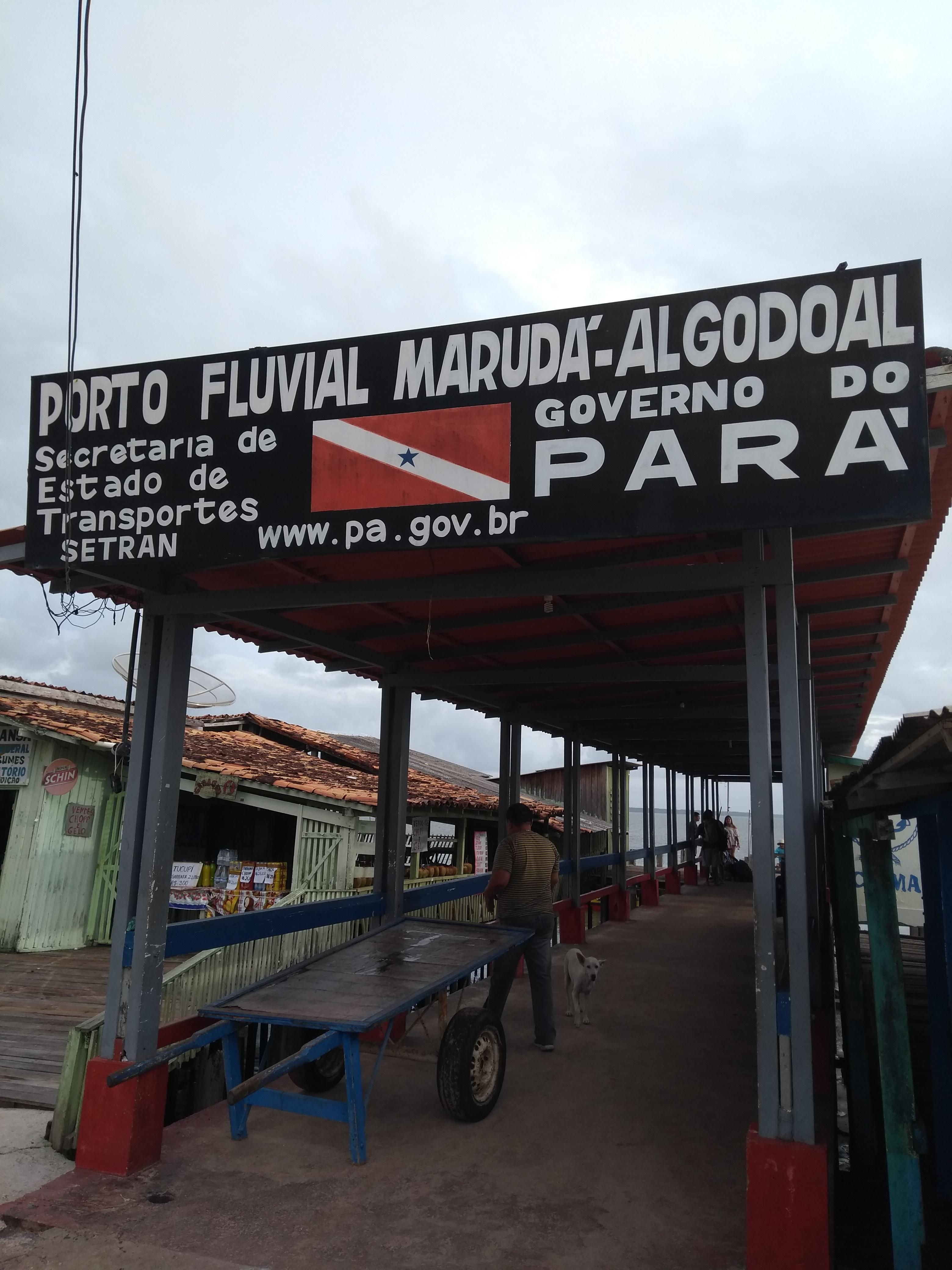 Entrada porto de Marudá