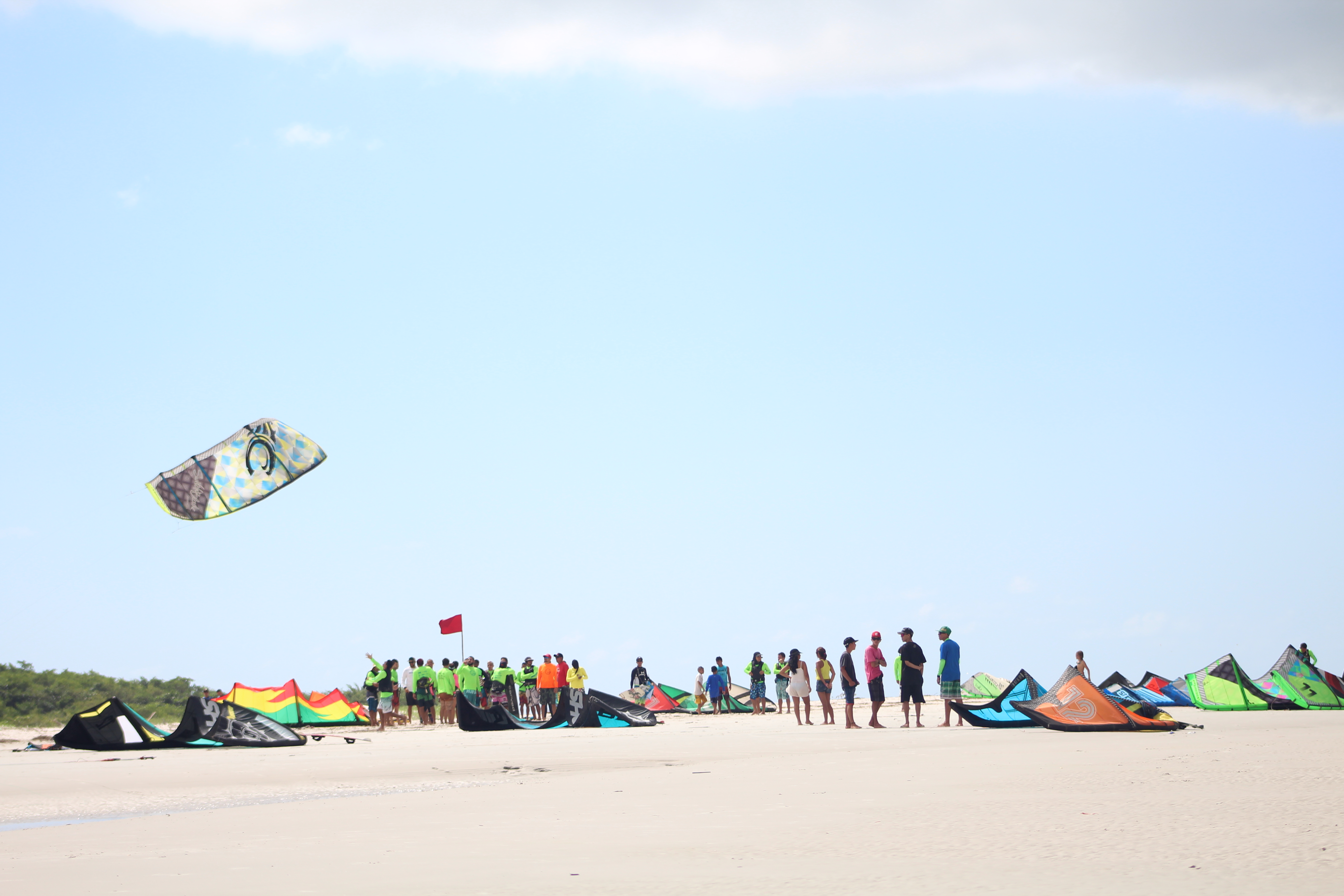 Kite Surf na praia de Fortalezinha