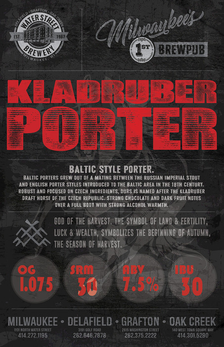 Kladruber Porter beer poster