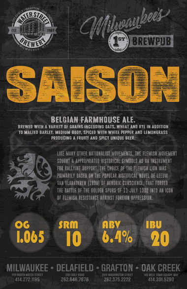 Saison beer poster