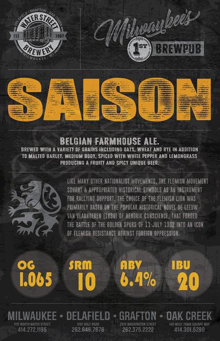 Saison beer poster